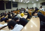 students are sleeping